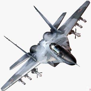 mig-29a fulcrum 3d model