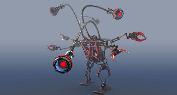 3D rigged robot eyes