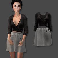 skirt set 3D