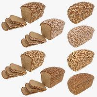 realistic bread 3D model