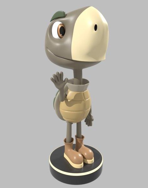 turtle animation 3D model
