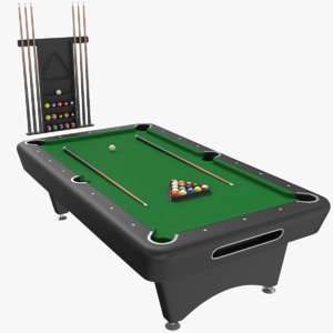 3D real billiard table model