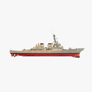 uss barry ddg 3D