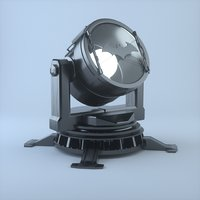 searchlight light search 3D model