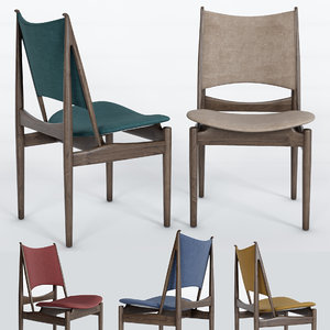 egyptian chair finn juhl 3D