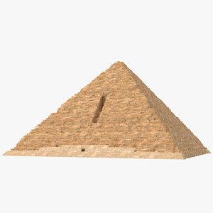 3D menkaure pyramid