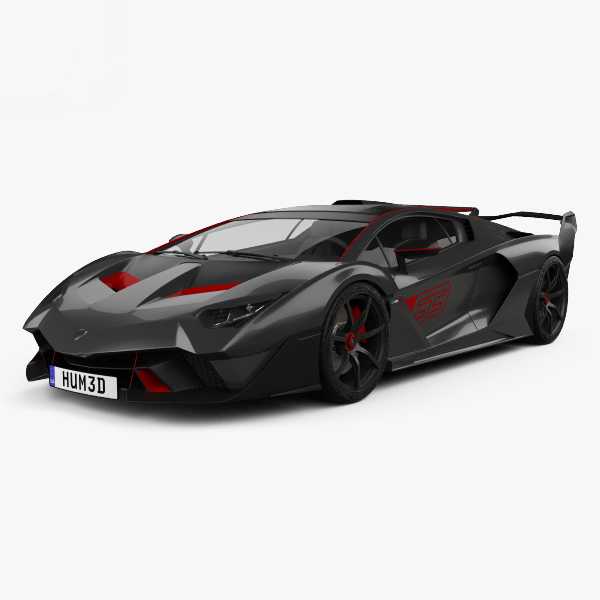 lamborghini sc18 2018 3D model