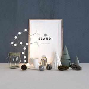 3D scandi - christmas decoration model
