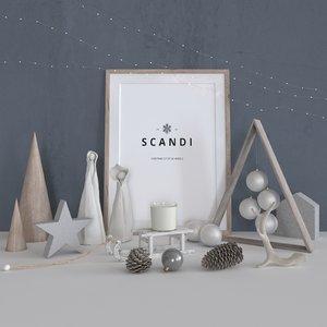 scandi - christmas decoration 3D model