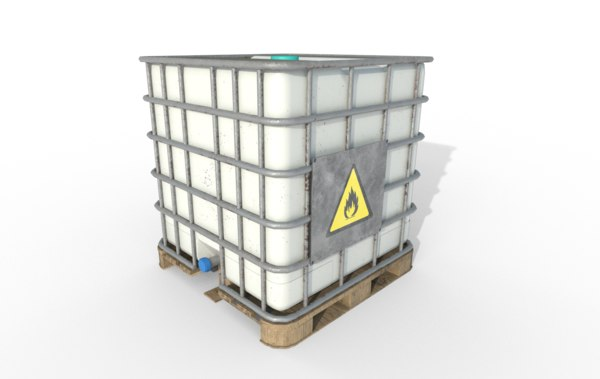 3D plastic container modeled model