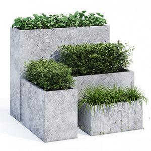 concrete mone 3D model
