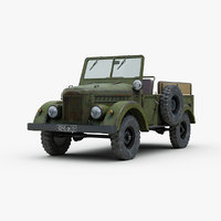 3d model of russian gaz 69 jeep