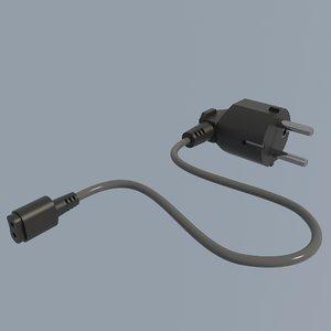 electric plug 3D