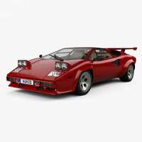 lamborghini countach qv 3D model