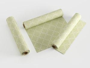 3D fabric rolls model