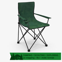 camping chair 3d model