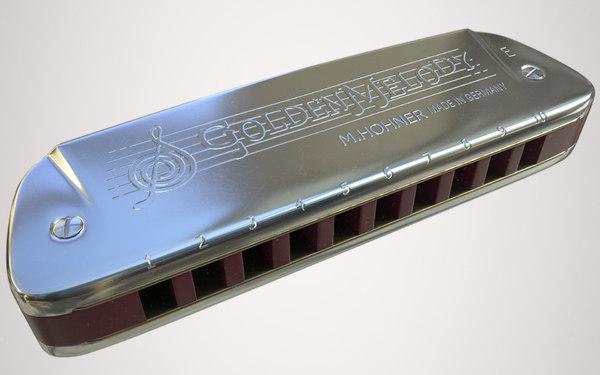 3d hohner harmonica model