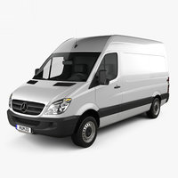 mercedes-benz sprinter panel 3D model