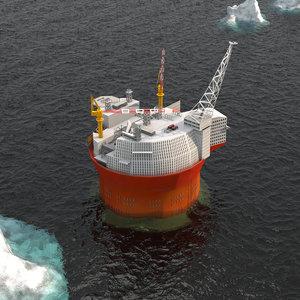 goliat oil platform model