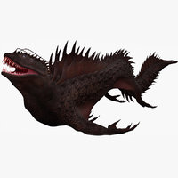 3D sea dragon model