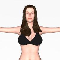 realistic women nude woman 3D