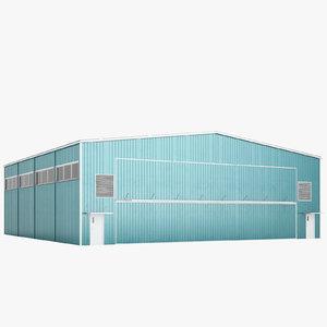 3D airport hangar model
