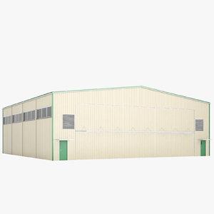 airport hangar model