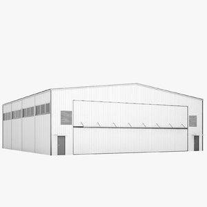 airport hangar 3D model