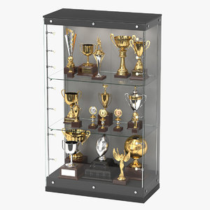 3D realistic trophy case