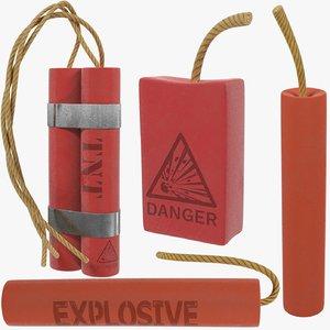tnt dynamite explosive 3D model