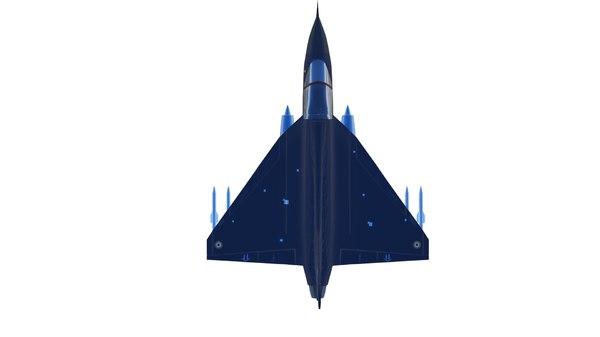 hal tejas fighter 3D model