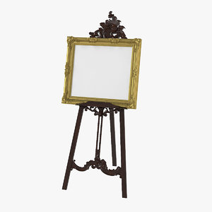 artwork display easel 3D model