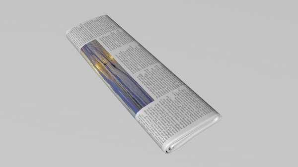 3D newspaper edit model