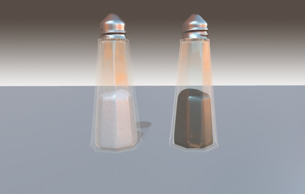 3D salt pepper pot