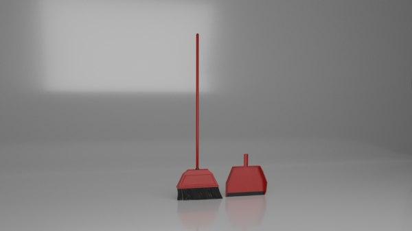 3D broom dust pan
