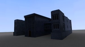 3D monastery structure