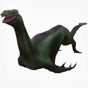 aqua monster 3D model