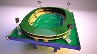 3D model subbuteo table soccer football