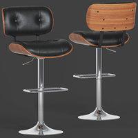 Flash Furniture Walnut Barstool