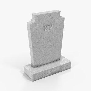 3D granite cemetery headstone stone