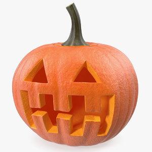 3D halloween pumpkinhead model
