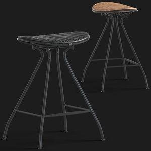 3D ryder saddle vintage stool