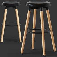 viva bar stool 3D model