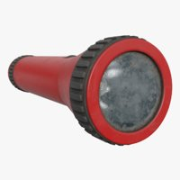 old flashlight 3D