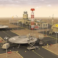 3D area 51 military base model