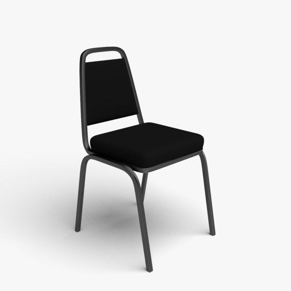 3D black frame fabric banqueting model