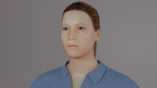 3D model female figure modeled