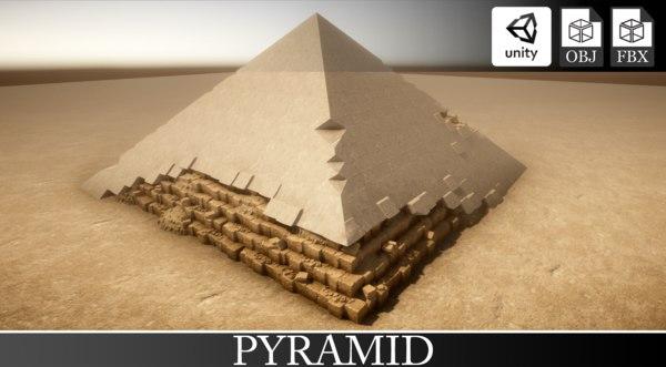 pyramid unity statue 3D model