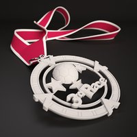 printable medal 3rd place 3D model
