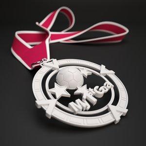 3D printable medal goal style model